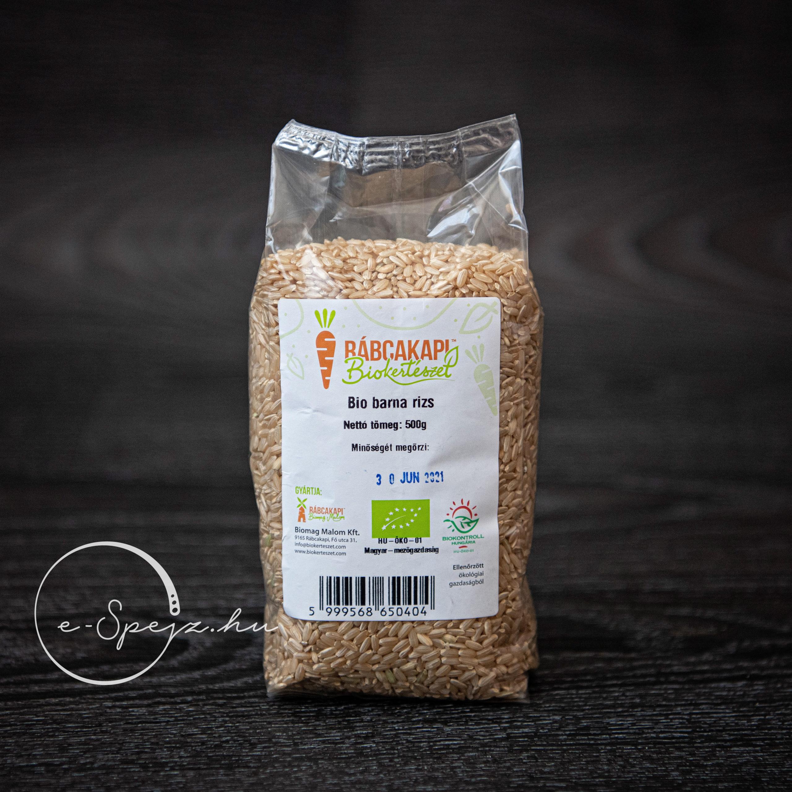 Bio barna rizs RábcakapI Biokertészet 500g ellenőrzött..